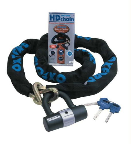 Oxford HD 1.5m chain and lock