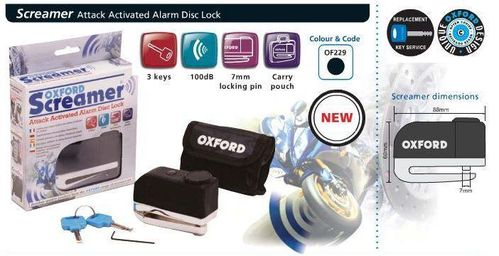 Oxford Screamer Alarm disk lock